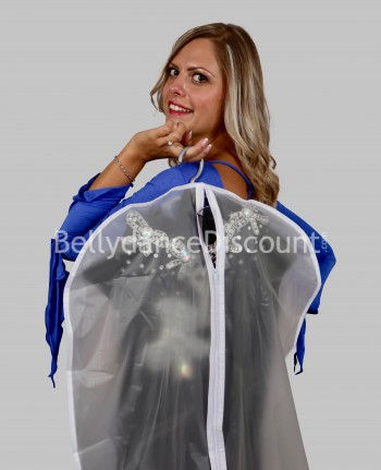 Transparent travel bag for dance costume