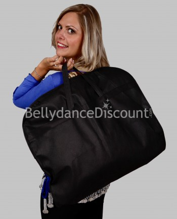 Black travel bag for dance costume