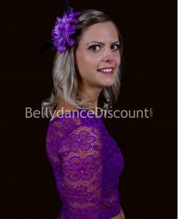 Purple oriental dance hairpiece
