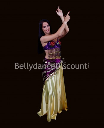 Purple belly dance bra