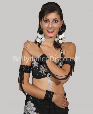 Beaded Bellydance sleeves black