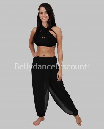 Black sheer fabric dance outfit