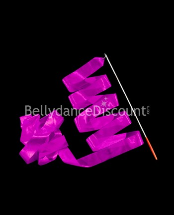 Bellydance and Rhythmic Gymnastics ribbon dark purple