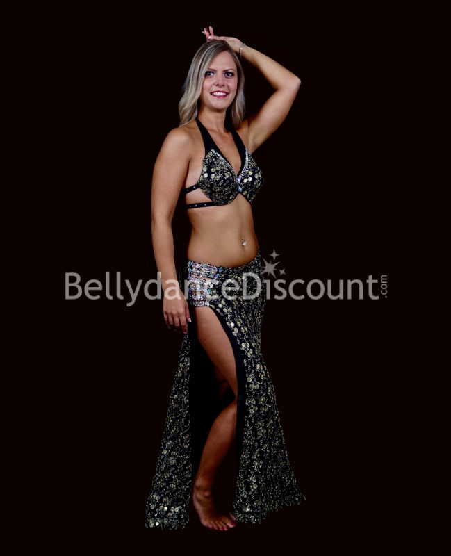 Black and gold Bellydance costume