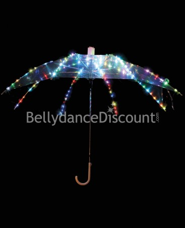 Light up multicolored umbrella