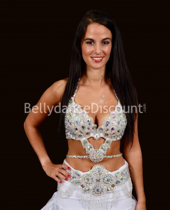 Diamond Bellydance bra + belt set